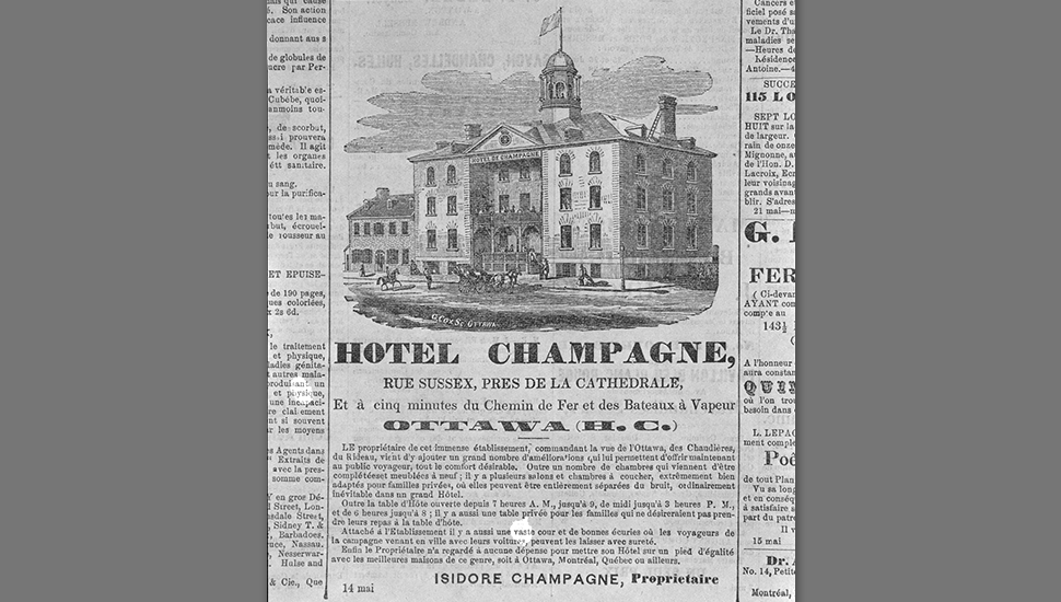 Hotel Champagne, 1861