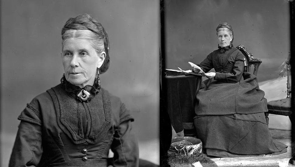 Photo of Lamira Dow Billings, 1873