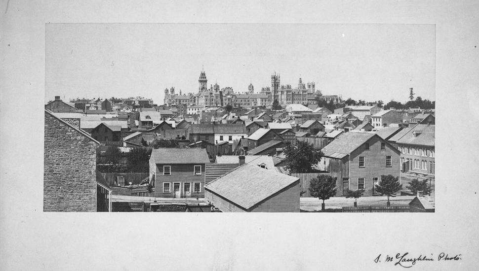 View from former Court House looking West, 1867