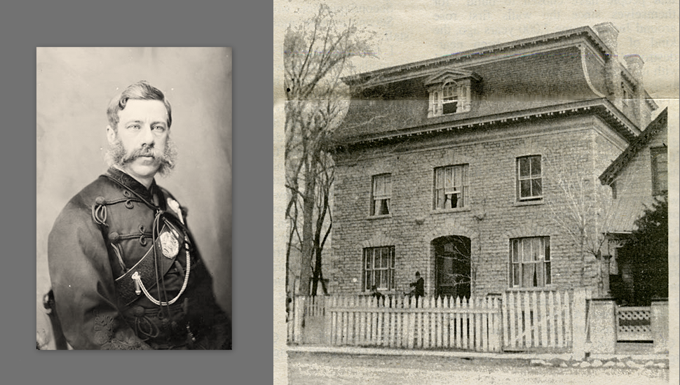 Colonel Charles Eugène Panet, April 1875 / Right: Panet House ca.1890.