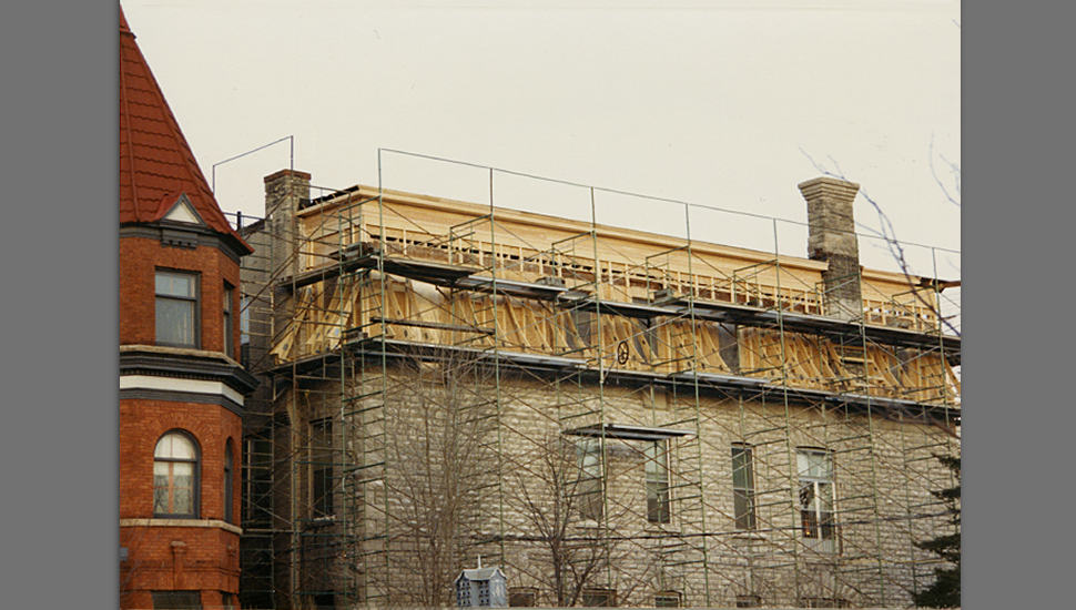 The mansard roof was reinstated as part of a major restoration of Panet House in 1987. Photo: Andrex Holdings Ltd.