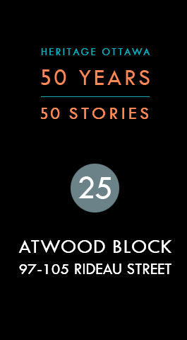Atwood Block 97-105 Rideau Street   Atwood 97-105, rue Rideau